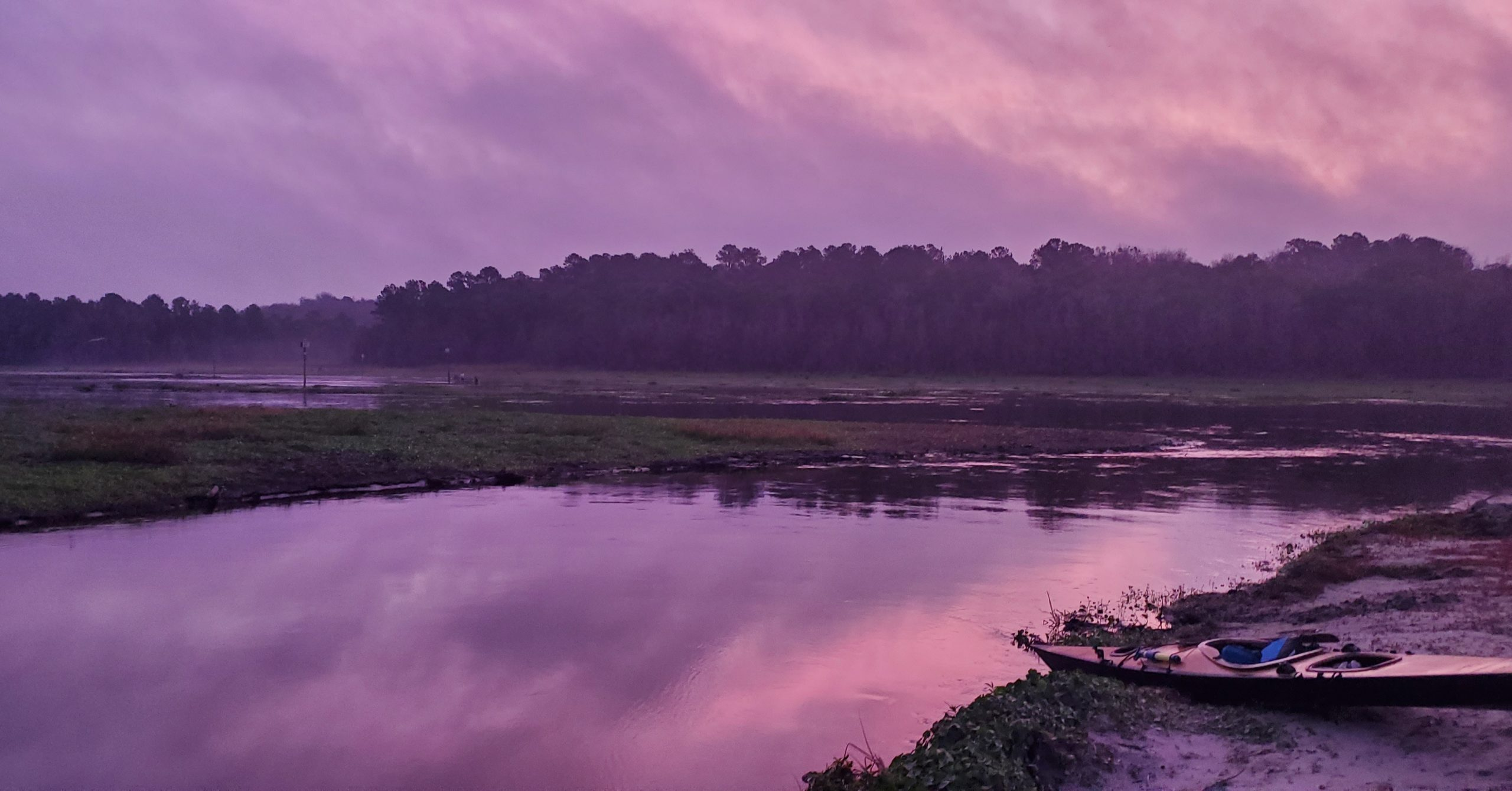 Dawn at the Orange Springs boat ramp on the drawn down Ocklawaha River