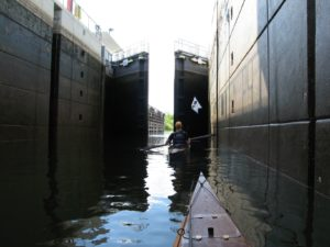 Passing through the Moss Bluff Lock