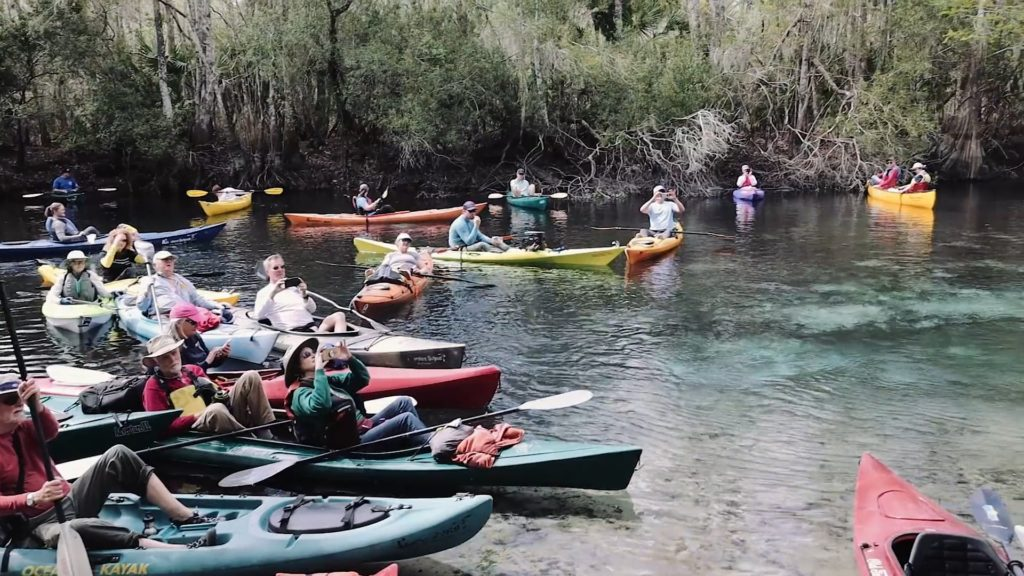 Kayakers at Cannon Springs