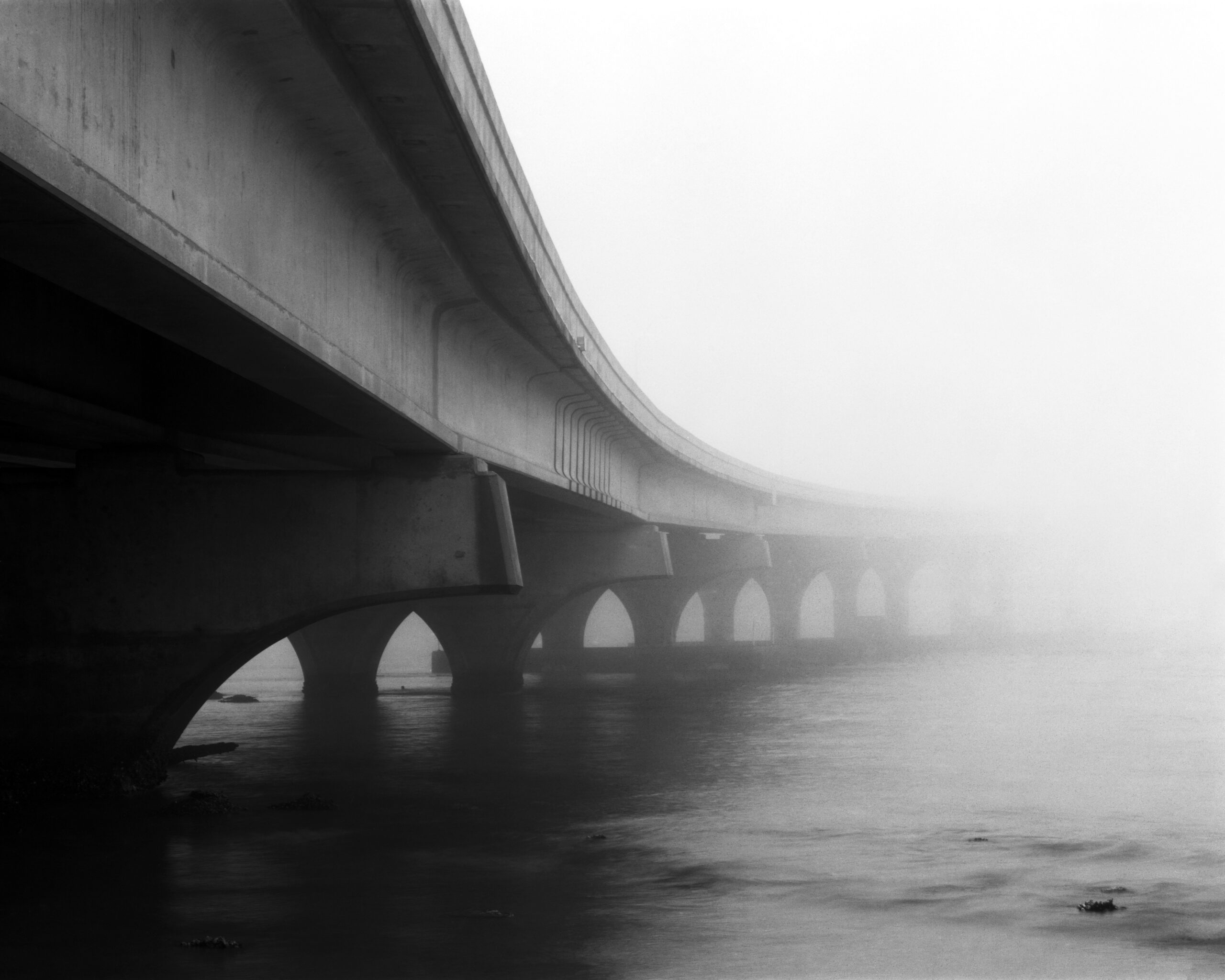 Fog, Francis and Mary Usina Bridge, St Augustine, FL. 2020